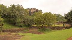 Visiting the ancient ruins of the Citadel of Sigiriya Stock Footage