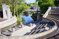 Lazienki Park in Warsaw Stock Photos