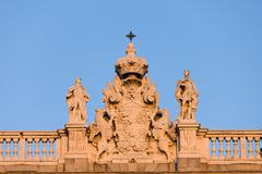 Royal Palace in Madrid Architectural Details - stock photo