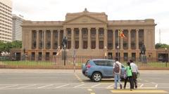The Presidential Secretariat Office in Sri Lanka Stock Footage