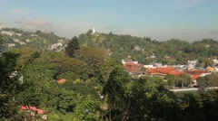 Houses on the hill in Colombo, Sri Lanka Stock Footage