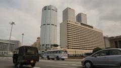 The BOC headquarters tower in Sri Lanka Stock Footage