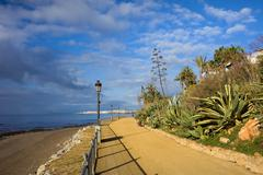Marbella to Puerto Banus Promenade Stock Photos