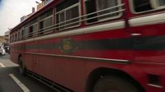 Traffic on Sri Lanka streets Stock Footage