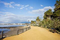 Promenade in Marbella - stock photo