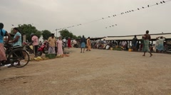 People gathered at the market in Sri Lanka Stock Footage