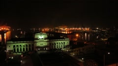 Great night view of the Presidential Secretariat Office in Colombo Stock Footage