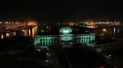 The Presidential Secretariat Office at night in Colombo Stock Footage