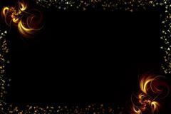 Flame fractals Stock Illustration