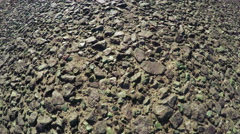 Road surface with stones Stock Footage