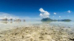 Maiga Island Timelapse Stock Footage