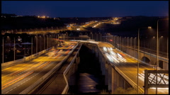 Medway Viaduct on the M2 motorway Stock Footage