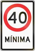 Stock Illustration of Minimum Speed In Chile