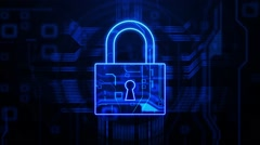 Data security Stock Footage