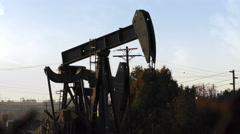 Oil Rig in Southern California Stock Footage