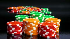 Casino chips stacks. Time lapse. Stock Footage