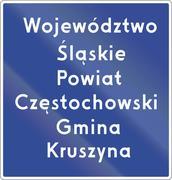 Voivodeship Border Sign In Poland - stock illustration