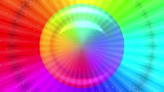 Rainbow background, Seamless Loop Stock Footage