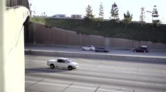Typical freeway in California Stock Footage