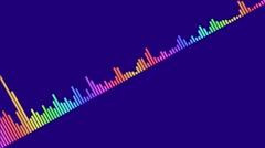 Audio waveform (equalizer - 60 seconds) Stock Footage