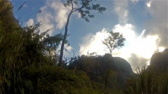 Sky in the mountains Stock Footage