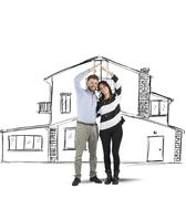 Couple planning a home Stock Photos