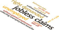Illustration in word clouds of the word Jobless Claims Stock Illustration