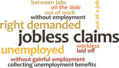 illustration in word clouds of the word Jobless Claims - stock illustration