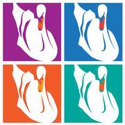 Swans pop-art Stock Illustration