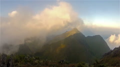 Sunrise on a mountain top Doi Chiang Dao3 Stock Footage