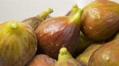 Figs juicy and taisty fruit on white background 4K 3840X2160 UHD footage - Fi Stock Footage