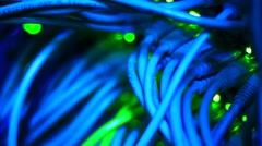 Deep blue Ethernet - stock footage