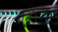 Ethernet switch operational Stock Footage