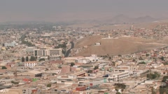 View to the city of Arica, Chile. Stock Footage