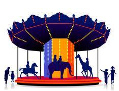 Children carrousel Stock Illustration