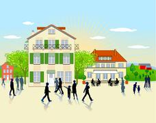 Stock Illustration of provincial town