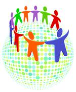 colorful people - stock illustration