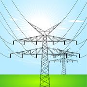 Electrical towers Stock Illustration