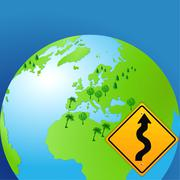 World curves sign Stock Illustration
