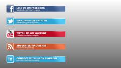 Social Media Lower Thirds Pack - stock after effects
