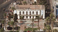 View to the Arica-La Paz railway station building in Arica, Chile. Stock Footage
