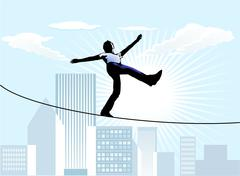 Rope-dancer Stock Illustration