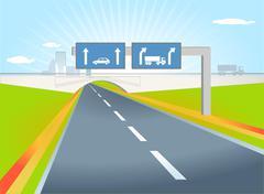 truck direction - stock illustration