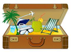 Great holiday suitcase Stock Illustration