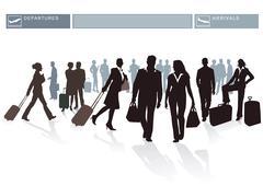 Airport Passengers Stock Illustration