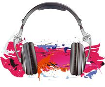 Headphones energy - stock illustration