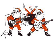 Santa Claus Rock Band Stock Illustration