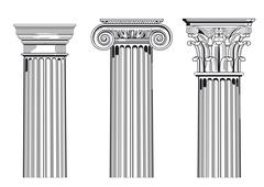 Column capitals - stock illustration