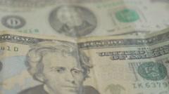 Dollar bills background 4K 3840X2160 UHD footage - Money dollar panning 4K 21 Stock Footage