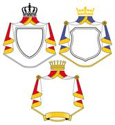 Crest with coat Stock Illustration